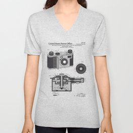 Camera Patent Unisex V-Neck
