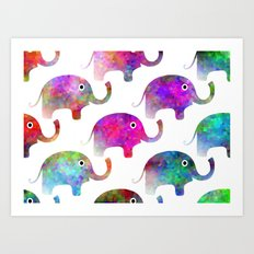Elephant Parade Art Print