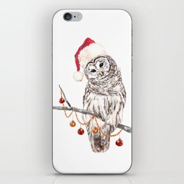 Christmas Owl GREETING iPhone Skin