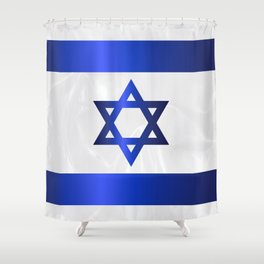 Israel Star Of David Flag Shower Curtain