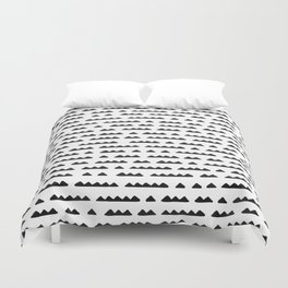 Hand Drawn Pyramids Duvet Cover