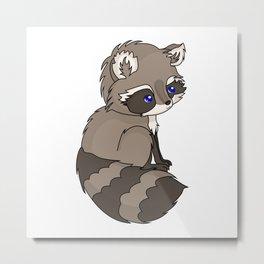 Rocky Raccoon Metal Print