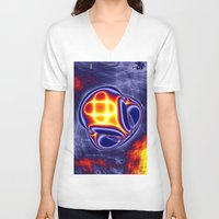 ufo V-neck T-shirts featuring ufo by donphil
