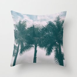 Palm Trees in tropical climate Throw Pillow