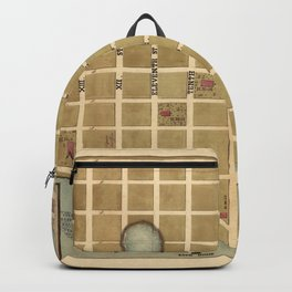 Map Of Beaufort 1865 Backpack