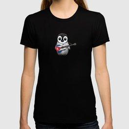 Baby Penguin Playing Cuban Flag Guitar T-shirt