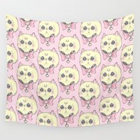 meow Wall Tapestries featuring Meow by lOll3
