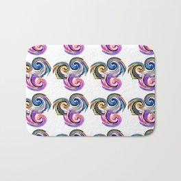 Colorful Snails Pattern Bath Mat