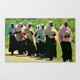 Muslim Women in Zanzibar Canvas Print