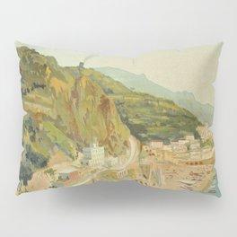 Vintage Travel Ad Amalfi Italy Pillow Sham