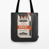 camp Tote Bags featuring Camp by ehpopoki