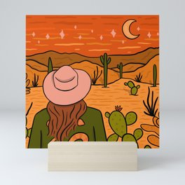 Desert Girl Mini Art Print