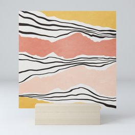 Modern irregular Stripes 01 Mini Art Print