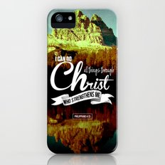 Typographic Motivational Bible Verses - Philippians 4:13 iPhone (5, 5s) Slim Case
