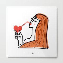 Bitter Sweet Love - Woman Metal Print