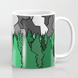 Forest Under the Gray Mounain Coffee Mug