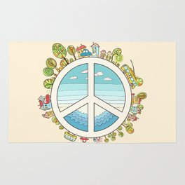 peaceful bright Pacific planet Rug