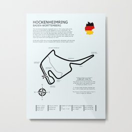 Hockenheimring Grand Prix Circuit Metal Print