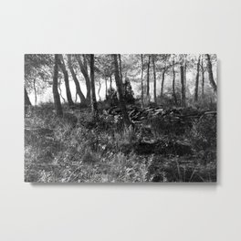 Black and white country wicked forest Metal Print