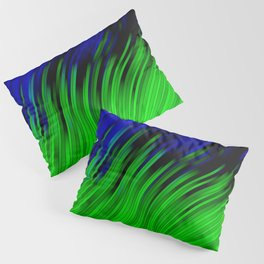 stripes wave pattern 2 with lines vtgi Pillow Sham