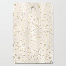 Celestial Pearl Moon & Stars Cutting Board