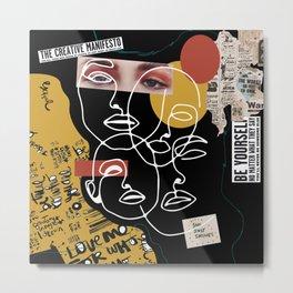 Manifesto Collage Metal Print