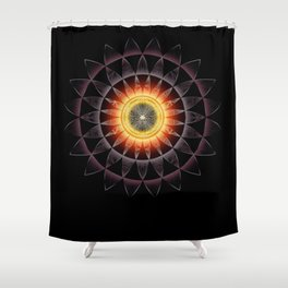 Black Hole Sun2018 Shower Curtain
