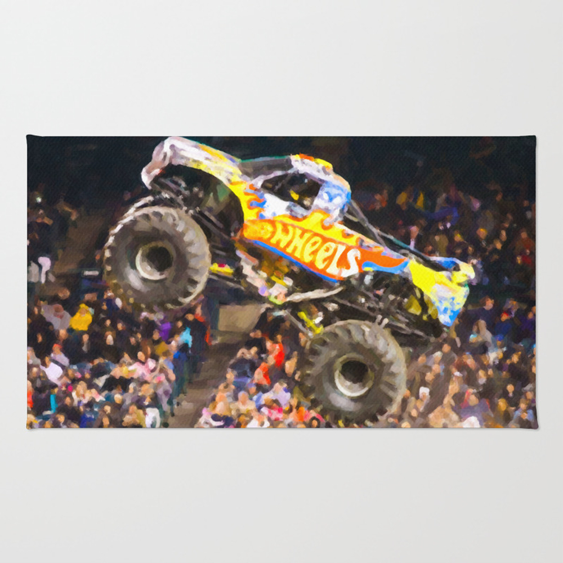 Team Hot Wheels Firestrom Bedroom Rug by Lanjee RUG8346220