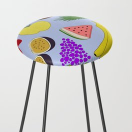 Fruit! in Sky Blue Counter Stool