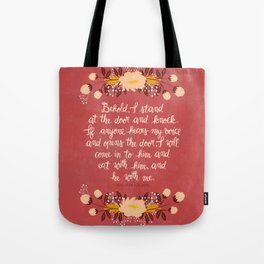 Revelation 3:20 Tote Bag