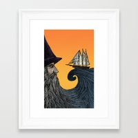 wizard Framed Art Prints featuring Wizard by Brittany Rae