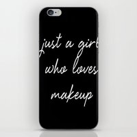 makeup iPhone & iPod Skins featuring Makeup by I Love Decor