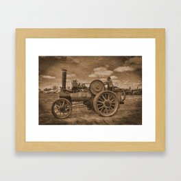 Vintage Jem General Purpose Engine Framed Art Print