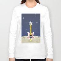 bass Long Sleeve T-shirts featuring Space Bass by Dean Bottino