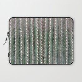 CACTUS NEEDLES PATTERN, closeup green succulent Laptop Sleeve