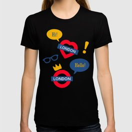 Crazy London Pattern T-shirt