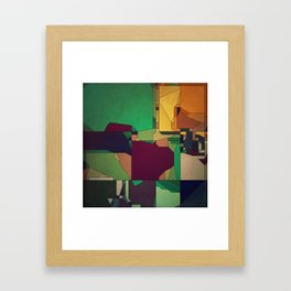 Patchwork of Color Framed Art Print