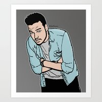 liam payne Art Prints featuring Liam Payne by 90's Class