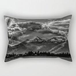 Mountain and Clouds Rectangular Pillow