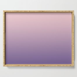 Gradient Millennial Pink Ultra Violet Pattern | Trendy color of the year 2018 Serving Tray