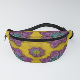 bohemian rare  fantasy flowers in the festive sun Fanny Pack