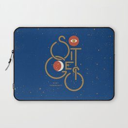 """So It Goes"" — Kurt Vonnegut Laptop Sleeve"