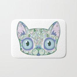 Chromatic Cat III (Green, Blue, Pink) Bath Mat