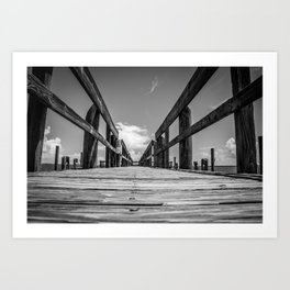 Black & White Bridge Art Print