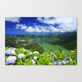 Crater lakes Canvas Print