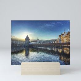 Sunset over Lake Lucerne Mini Art Print
