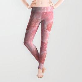 Boho Blush and Beads - Pink Leggings