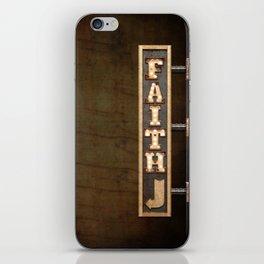 FAITH BILLBOARD iPhone Skin