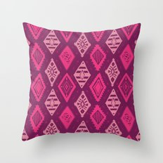 Pink Tribal Print Throw Pillow