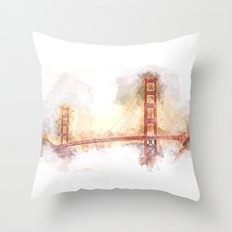 Golden Gate II Throw Pillow